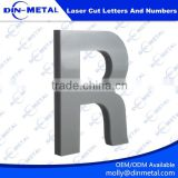 stainless steel laser cut letters logo and numbers 3d laser cutting lettering channel out door signs