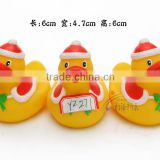 Christmas plastic duck mini bath floating toys kids Eco-friendly duck with hat PVC