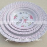 30cm BPA free plastic round plate dried fruit plate factory direct