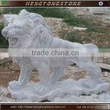 Hand carved white marble lion statues cheap