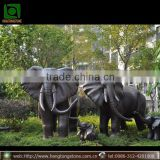 China supplier metal bronze elephant large outdoor copper sculptures