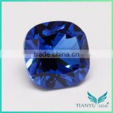 Wuzhou Gems Processing Loose 112# Burma Blue Synthetic Spinel Rough Gemstone
