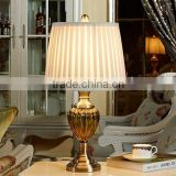 Metal Base Ceramic Body With Fabric Lampshade Modern Desk Lamp Bedroom Living Room Dining Room Table Lamp