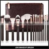 Manufacturers Supply Hot Sell Black Rose Gold 15 PCS Makeup Brush Set With Bag Oval Makeup Brush Set Mermaid Makeup Brush Set