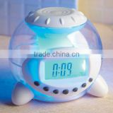 animal,bird sound,wake up clock,led light 7 color change nature sound digital alarm clock