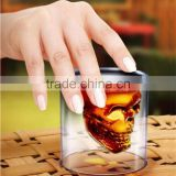 New Product Personalized 75ml High Borosilicate Glass Skull Shot Glass Double Wall Skull Wine Glass Cup