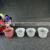 Wholesale Bulk 12 PCS White And Pink Style Ceramic Porcelain Mini Tea Cup Set In Gift Box