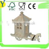 2015 china supplier natural wooden craft carriage wholesale