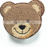 Wholesale high quality lovely design bear embroidery patch for garment