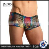 OEM Services Top Underwear Brands For Man Sublimation Print Sexy Silk fabric Mans Boxer Brief Underpants