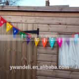 Happy Birthday Bunting Banner With White Letters, Party Bunting Banner, Handmade Felt Bunting Banner