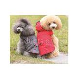 Personalized Dog Clothes Red Color For Cool Weather And Winter Dog Coats
