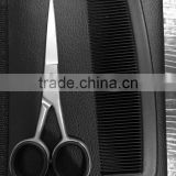 Beard scissors/Eyebrow scissors with comb in a leather pouch