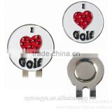 heart crystal l golf ball marker and hat clip/yf golf ball marker/ mutli design hat clip