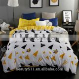 new print 100% luxury combed cotton home textile 3D 4pcs bedding set duvet cover pillow cushion bed sheet BS284