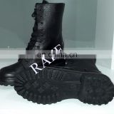 Raff Army black leather Army - Police Boots Military Combat Boots