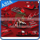 Outdoor playground Inflatable Obstacle Course Equipment / giant Inflatable Obstacle Course