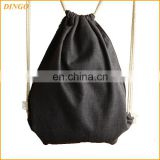 Custom recycled calico cotton drawstring tote bag wholesale