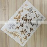 2015 wholesale flash tattoo metallic temporary tattoo new design crazy sale