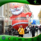 Commercial 20ft Giant Inflatable Parade Santa , Outdoor Advertising Inflatable Helium Santa Clause