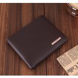 Fashion Passion Charm Male Metal Decoration Leather Men′s Wallet
