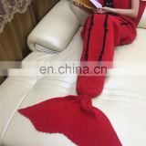 Customized Crochet Mermaid Tail Blanket Children Adult Size Mermaid Tail Blanket for Watching TV Wearable