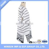 White High Quality Spring Fashion Stripe Fish Women Sweater Wide Bats Sleeve Long Pullover