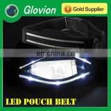 LED tool belt LED belt with pouch Tool pouch waistband with LED