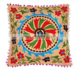 Hot summer sale_Indian Uzbek Suzani Hand embroiery cushion cover_home decor indian pillow cases_online wholesale shop