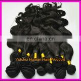 Double weft durable & luscious one donor cheap hair brazilian weave