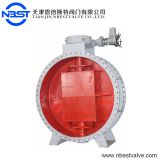 Metal Seated Cast steel body welding Double Flanged triple eccentric Butterfly Valve PN40