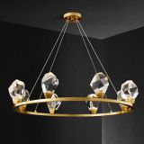 K9 Crystal Chandelier 8L LED crystal brass Pendant Lamp Used home dinning room, living room