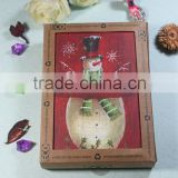 2016 hot sale handmade christmas paper greeting card/ wholesale new design santa greeting card