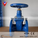 DIN F4 NRS Cast Iron Gate Valve , Sluice Gate Valve