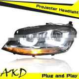 AKD Car Styling GOLF 7 LED Headlight 2013-2014 GOLF7 Headlight Volks Wagen Halogen Signal Head Lamp Projector Bi Xenon Hid H7