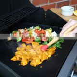 "100% Non-Stick & Reusable BBQ Grill Mat, 13""X15"" PTFE coated and easy clean fabric, for Grill, Oven or Microware"