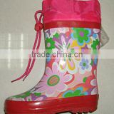 Children Rubber Rain Boots Girls Wellington Boots