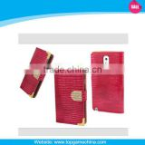 Book-Style Wallet leather case for samsung not3 n9000, Free sample
