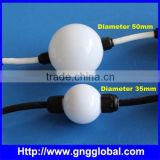35mm diameter led ball string 360 degree rgb colorfull effect led pixel led ball light outdoor madrix lighting