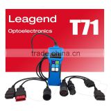 Professional auto scanner for heavy duty truck /obd2 gauge -support 8 systems ,updateable online