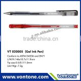 promotional gel ink pen for school&office supply,gel pen refill