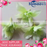 Wedding favors handmade light green orchid silk flower head bulk wholesale