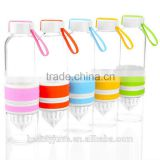 BPA FREE glass fruit infuser water bottle lemon squeezer glass juice bottle 500ml glass bottles fruit infusion water bottle