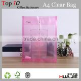 Transparent string closure envelope pp plastic clear document file bag a4 size file folder