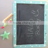 child Wood framed slate chalkboard with stand. freestanding
