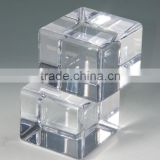 clear solid acrylic cube stamp block paperweight photo frame                                                                         Quality Choice