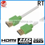 Black nylon High Speed Cable HDMI with Ethernet support 3D 4K blu-ray 2160P Gold metal plug hdmi cable