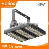 Fashionable customized blingking 90w solar led tunnel lights with aluminium led tunnel light shell