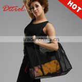 Foldable cheap mesh cloth black dancing totoe bags dance duffle bags women handbags OEM D006184