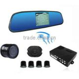 Wireless Car parking sensors with 3.5 inch rearview mirror and camera